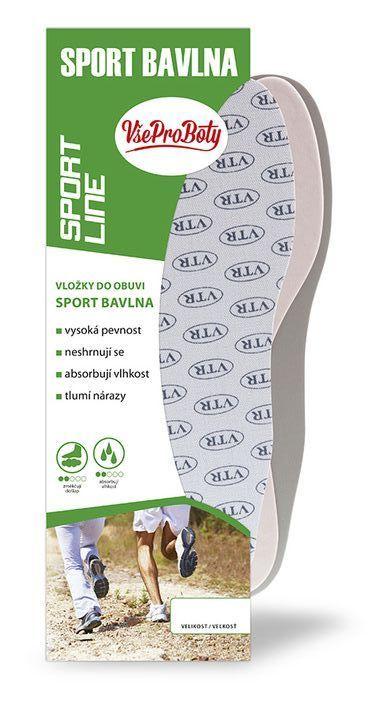 Vložky do bot Sport Bavlna