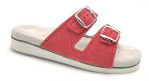 Kožené pantofle na hallux i patní ostruhy-růžové,vel. 35 - 46