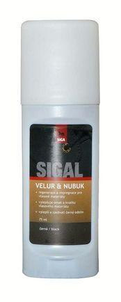 SIGAL VELUR - NUBUK s aplikátorem, 75 ml - černá