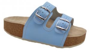 Korkáče s masážní koženou stélkou-sv.modré,vel. 37