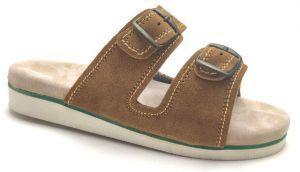 Kožené pantofle pro diabetiky-sv.hnědé, vel. 37 - 41