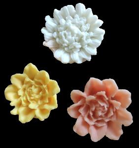 Glycerínové mýdlo - květy v sáčku  3 ks
