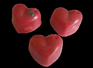 S arganovým olejem-3 x srdíčko, s měsíčním kamenem Červený jaspis