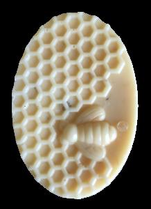 S medem-ovál se vzorem včel, s měsíčním kamenem Křišťál