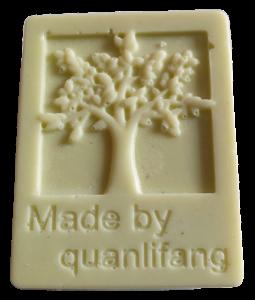 Směs tří másel - vzor stromu, s minerálem Fluorit