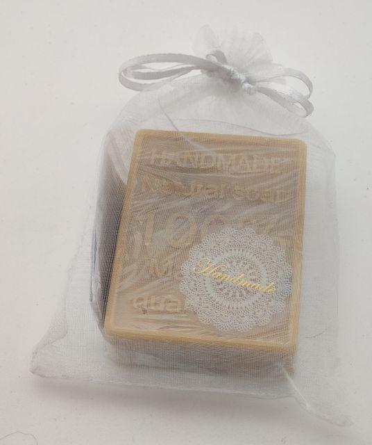 Přírodní ručně vyráběné mýdlo - Tři másla-tvar obdélník s nápisem a vzorem stromu, měsíční kámen Fluorit dozodo.cz