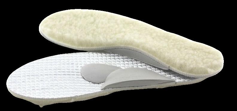 Zimní vložka do bot s ovčím rounem - podpora podélné i příčné klenby